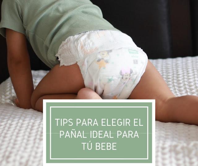 Tips para elegir el pañal ideal para tú bebé