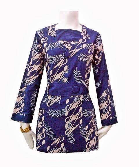 Model Baju Batik Kerja Atasan Muslim: Baju Batik Wanita Lengan Panjang Muslim