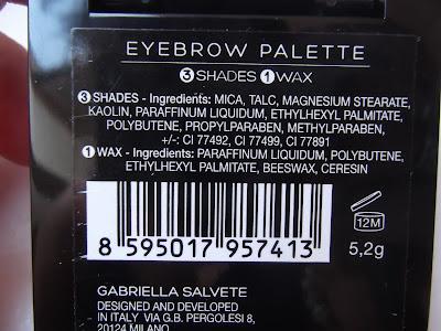 Gabriella Salvete Eyebrow Palette zloženie
