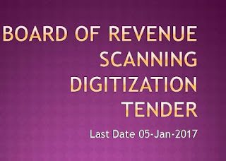 Board of Revenue Scanning Digitization Tender