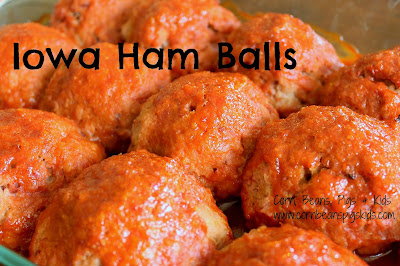 Make Ahead Easter Dinner Recipes - Iowa Ham Balls #Celebrate365