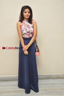 Kannada Actress Mahi Rajput Pos in Floral Printed Blouse at Premam Short Film Preview Press Meet  0019.jpg