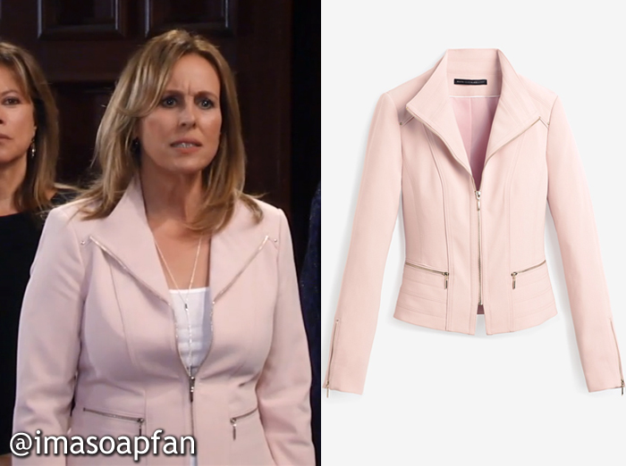 Pink Zip-Front Jacket, Laura Spencer, Genie Francis, GH, General Hospital