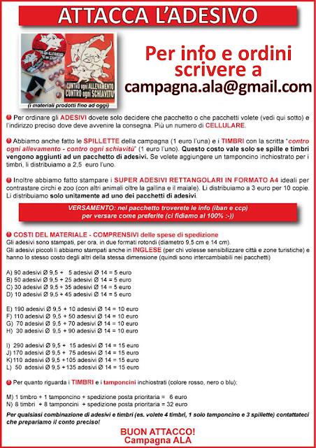 per info e ordini scrivere a campagna.ala@gmail.com