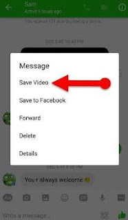 Cara Menyimpan Video dari Messenger ke Galeri Hp