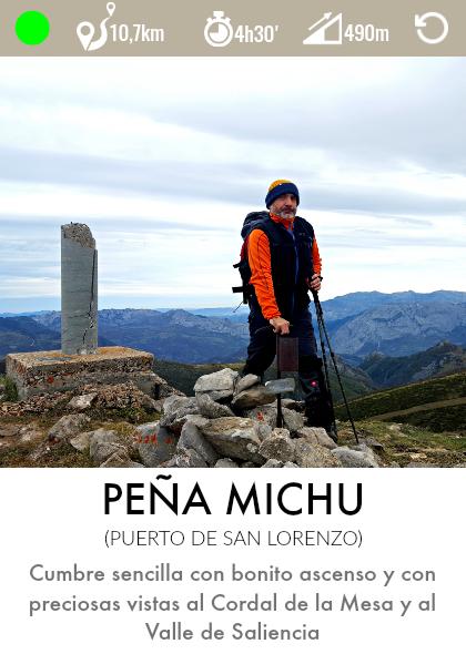 ruta peña michu teverga asturias