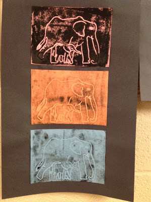 Fourth Grade Animal Printmaking Art Lesson