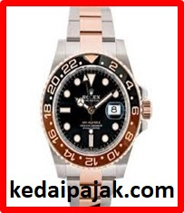 Pajak Rolex ( Rolex GMT Master II Root Beer Everose Gold  With Box / Card 2019).  Pajak RM 65000 di www.kedaipajak.com