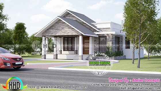 3 BHK Modern house plan by Atelier concepts, Cochin