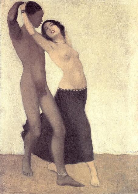 Otto Mueller - Uomo di colore con ballerina