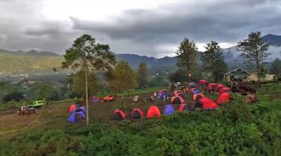 Tempat camping dan offroad di Puncak