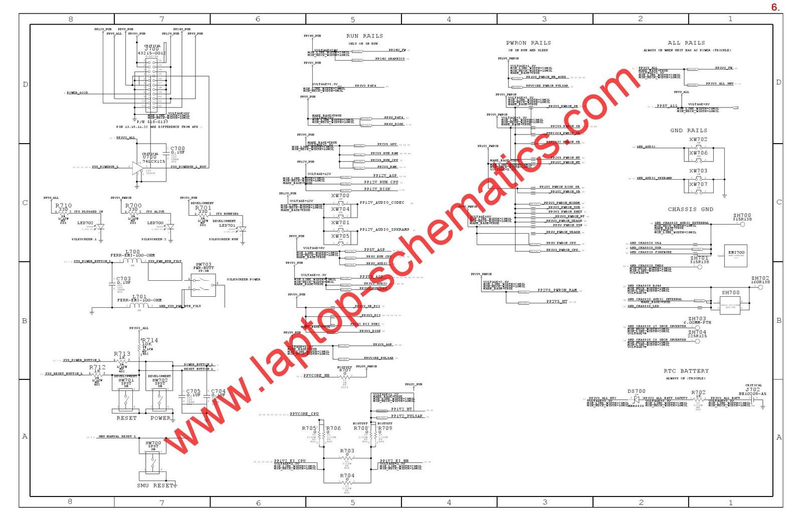 (skema) : APPLE laptop schematic diagram