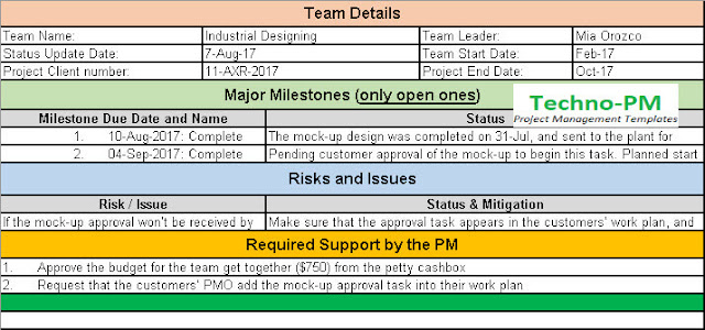 daily status update email template