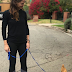 Checkout Hollywood Actress, Jennifer Garner As She Takes Her Pet Chicken For A Stroll