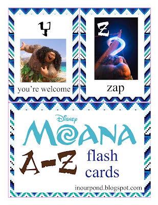 FREE Moana Alphabet Flash Cards