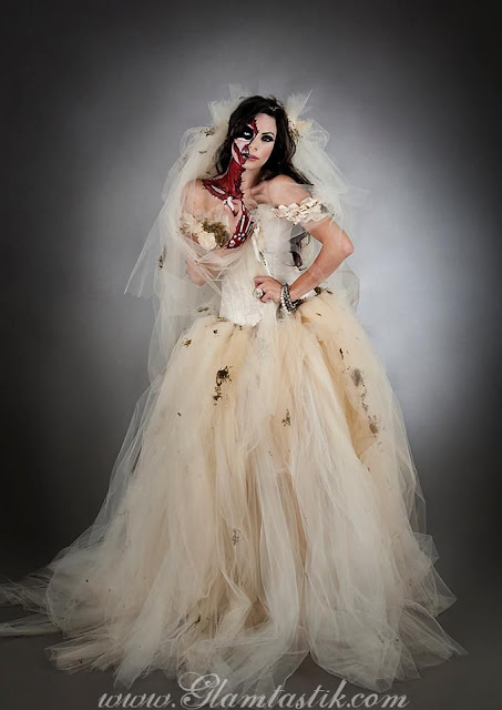 Halloween Costume Using Wedding Dress