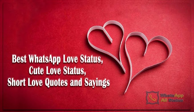 Best WhatsApp Love Status, Cute Love Status, Short Love Quotes and Sayings