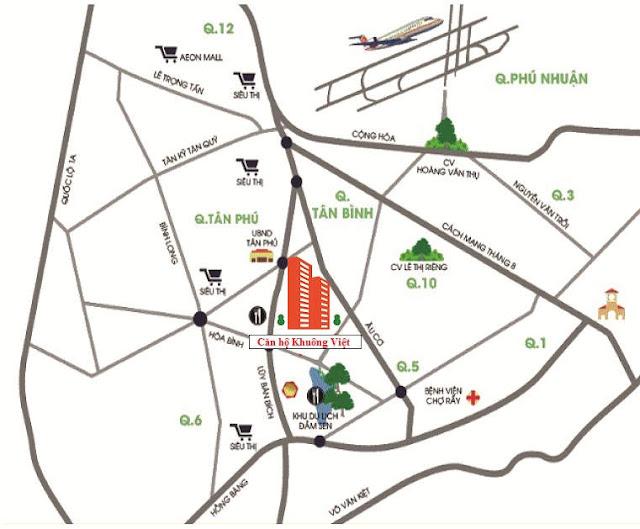 Vị trí căn hộ Khuông Việt