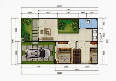 10 Gambar Denah Rumah Minimalis Type 36 Modern | Desain ...
