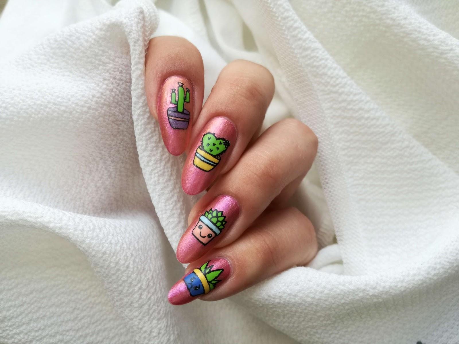 paznokcie w kaktusy