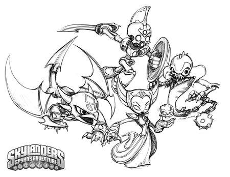 skylander coloring pages ninjini vs scarlet   Skylanders Spyro's Coloring Pages for Kids >> Disney ...