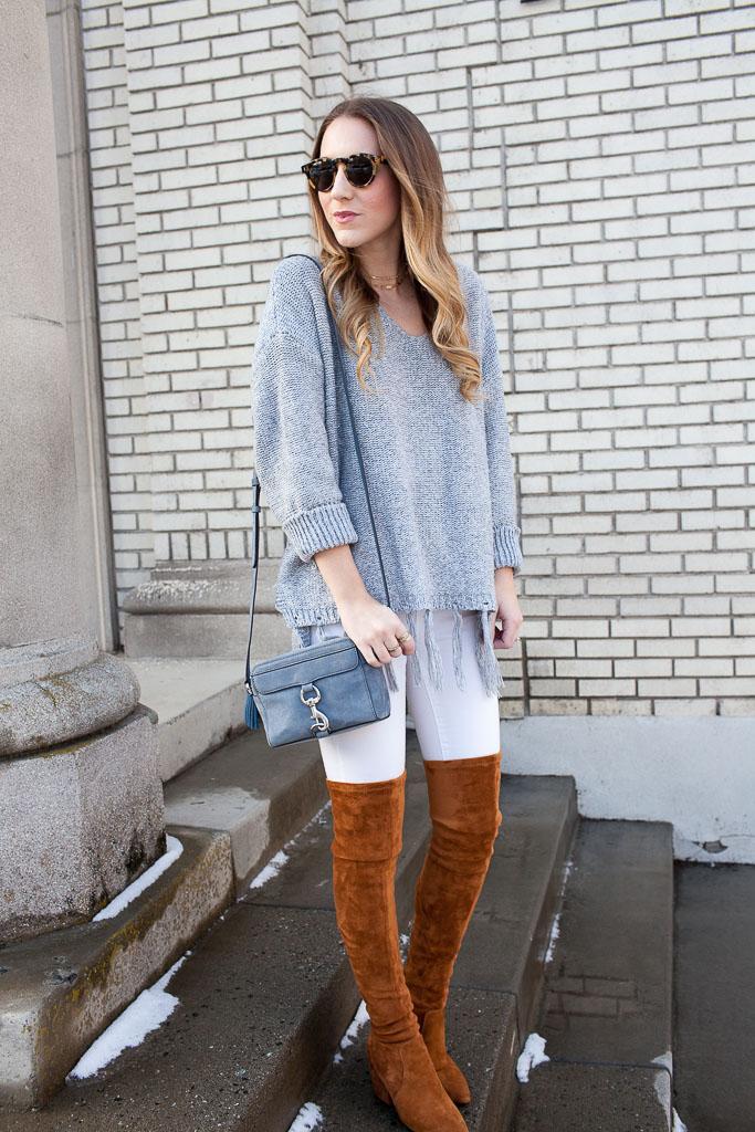 5ee33ff2711 Cognac Over the Knee Boots - Twenties Girl Style