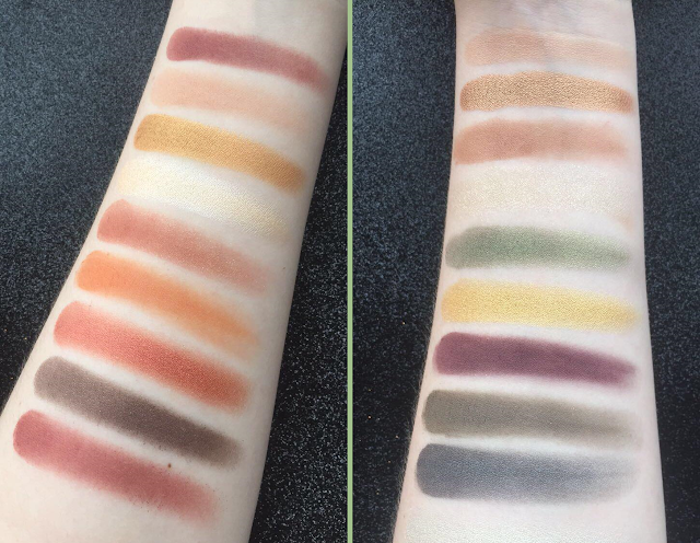 NYX Perfect Filter Shadow Palettes Swatched