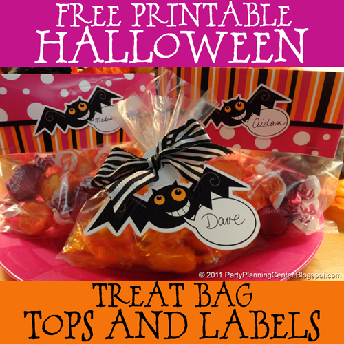 Printable Halloween Trick Or Treat Goody Bags