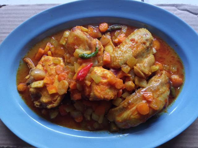 Ayam Ungkep Sayuran perpaduan Manis dan Asam - Mpo Ratne