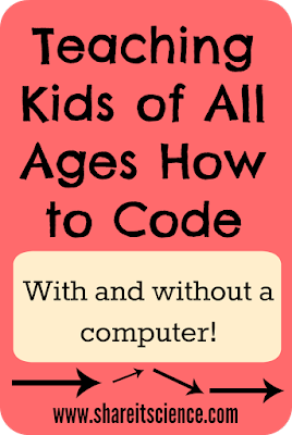 teaching kids of all ages how to code www.shareitscience.com