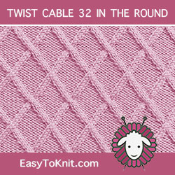 #Knit Lattice stitch, Easy Cable Pattern #easytoknit