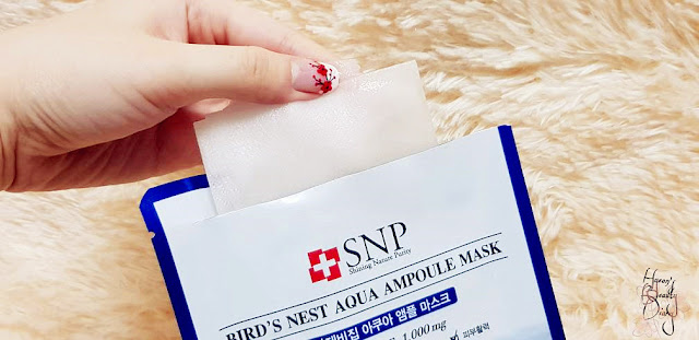 Review; SNP's Bird's Nest Aqua Ampoule Mask