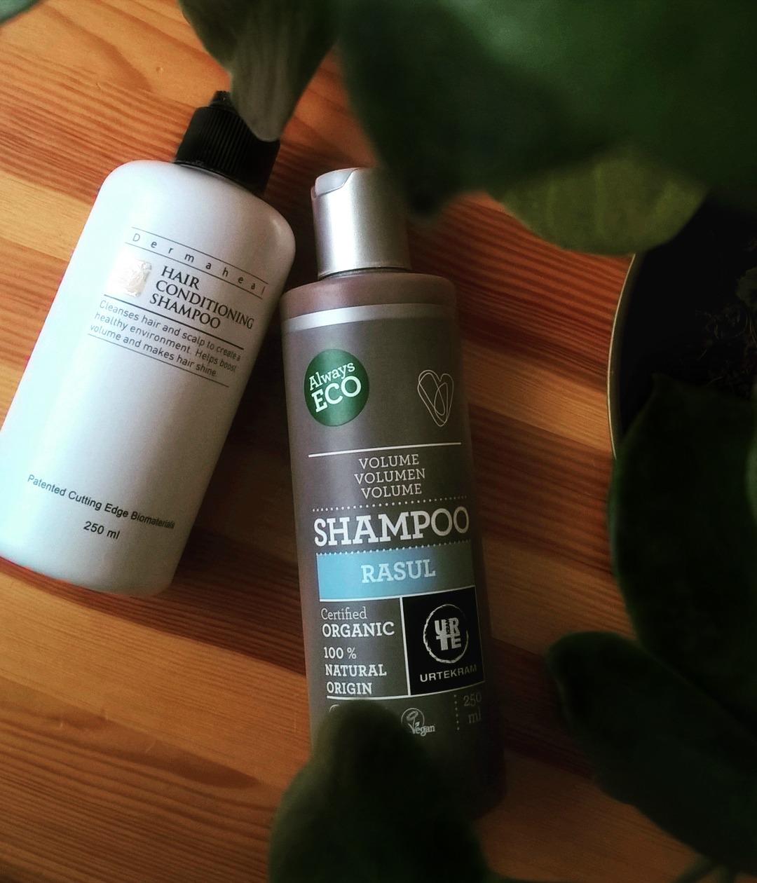 Dermaheal szampon & Urtekram szampon z glinką