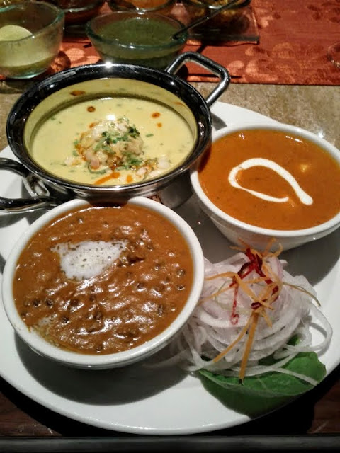 Where to eat in Hyderabad: vegetarian curry sampler at Kangan in the Westin Hyderabad Mindspace