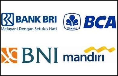 Tarif Potongan bank BRI, Mandiri, BNI, dan BCA