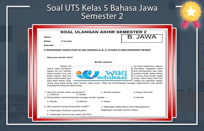 Soal UTS Kelas 5 Bahasa Jawa Semester 2