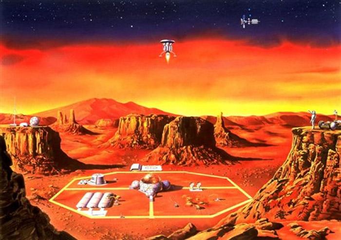 colônia marciana