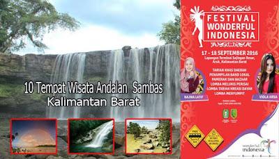 10 Tempat Wisata Andalan  Sambas, Kalimantan Barat