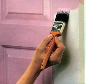 Porta pintada com tinta esmalte