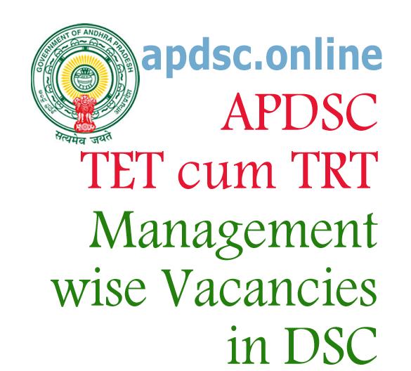 DSC MANAGEMENT WISE VACANCIES