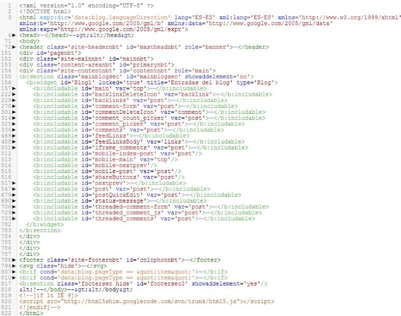 Todo el código del blog previa comprensión