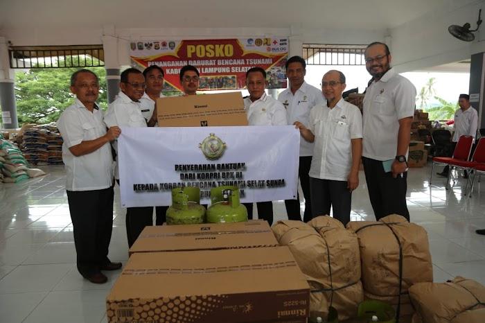 BPK Provinsi Lampung Beri Bantuan Korban, Pasca Tsunami Di Lamsel.