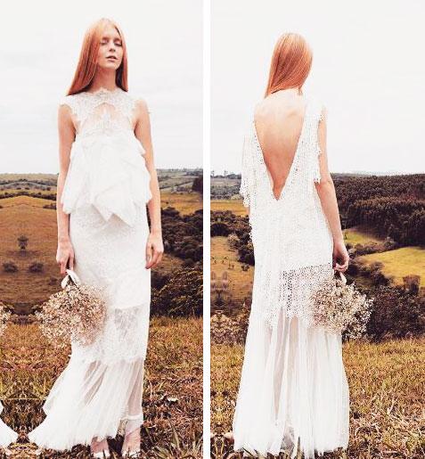 Vestido de noiva de algodão