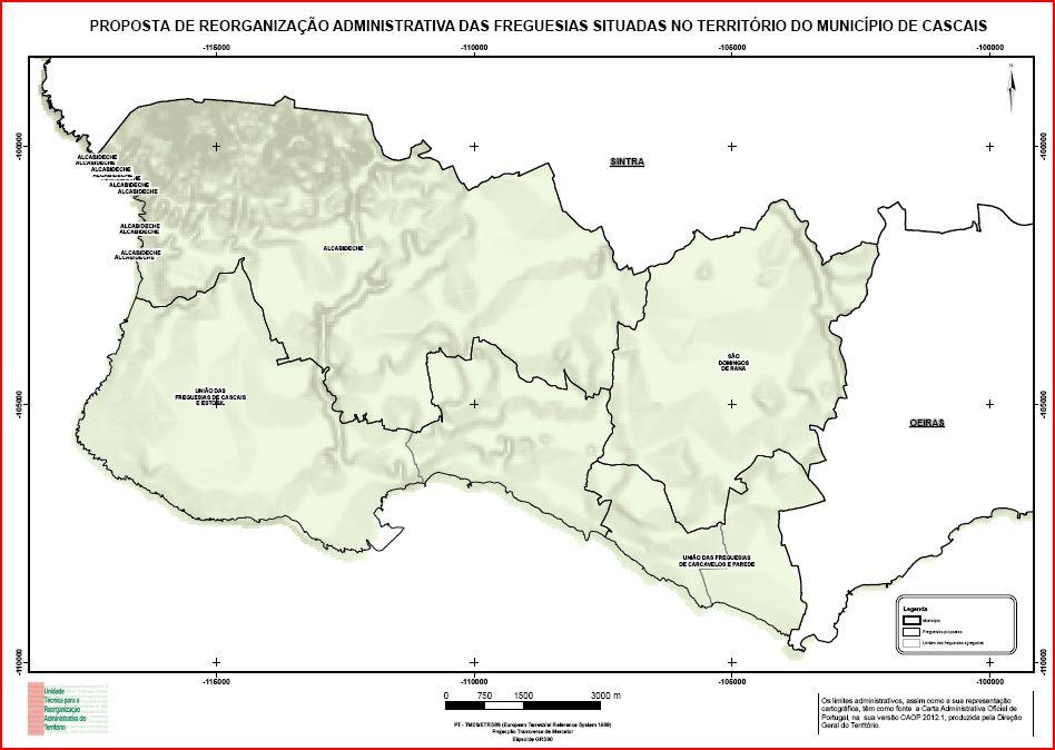 mapa das freguesias do concelho de cascais Portugal: Reorganização Administrativa do Concelho de Cascais mapa das freguesias do concelho de cascais