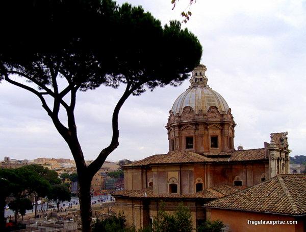 Igreja de San Marco vista do alto da escadaria de Aracoeli