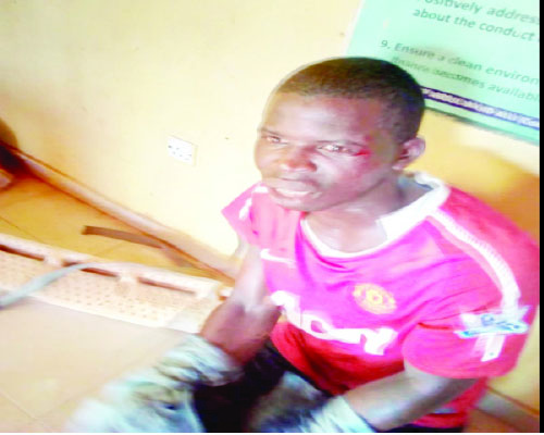 A Notorious Cult Leader, Armed Robber Named George In Ijoko Sango Ota has been arrested.