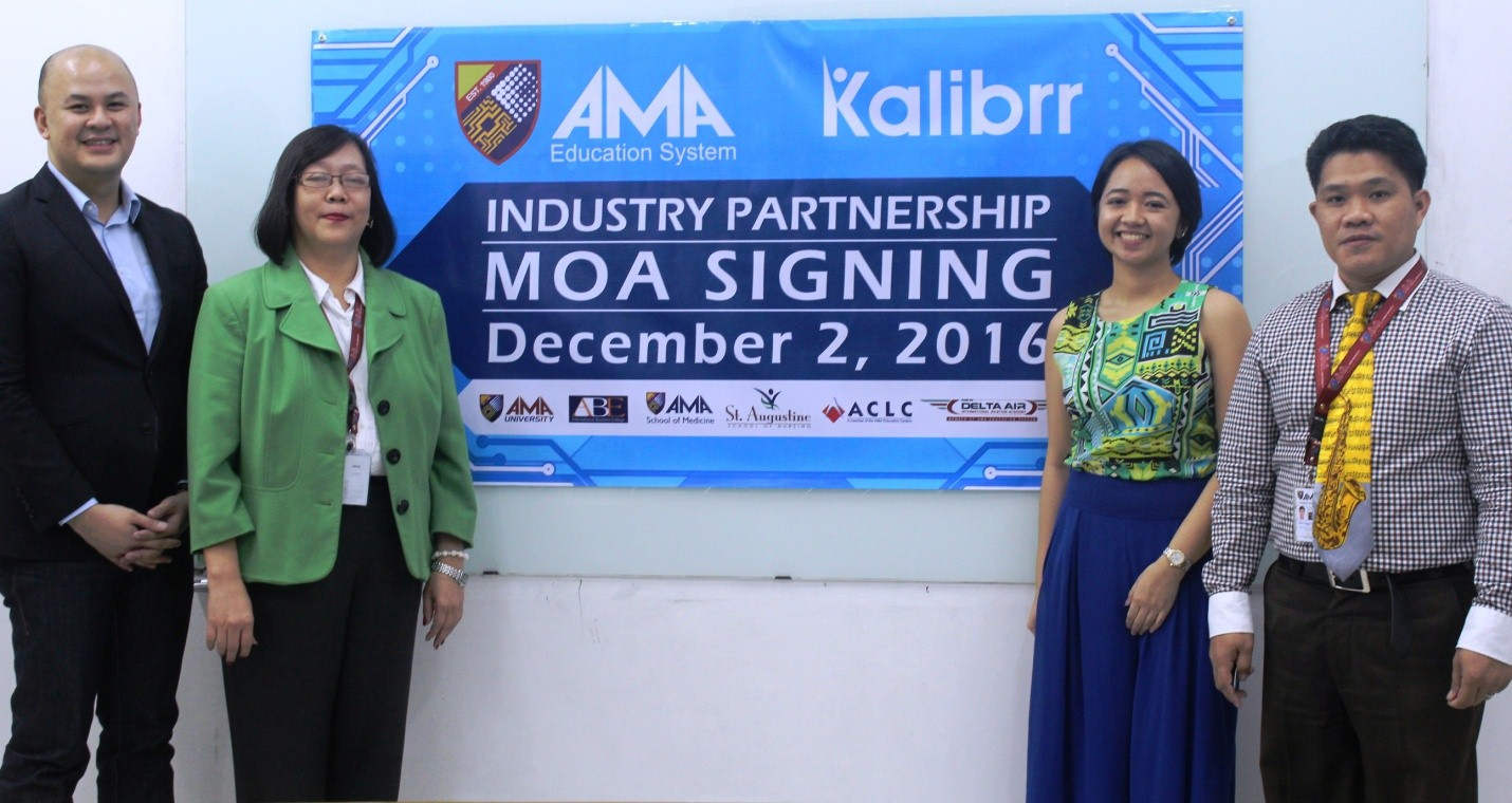 Daniel education system - Ama Education System Partners With Kalibrr To Provide Employment Assistance To Alumni And Students
