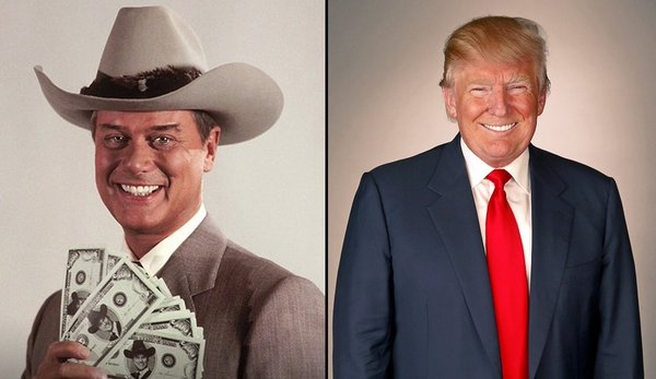 J.R. Ewing & Donald Trump Greed is Good