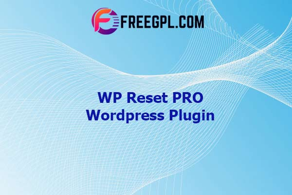 WP Reset PRO WordPress Plugin Nulled Download Free