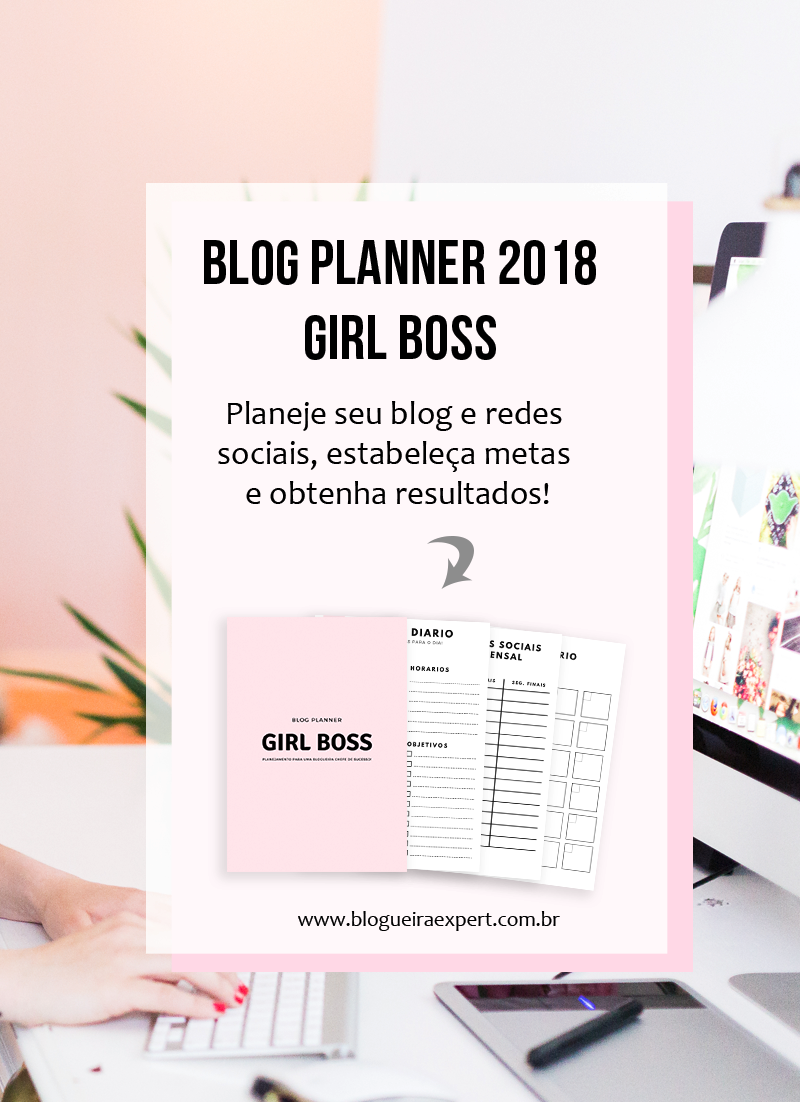 Blog Planner Girl Boss 2018